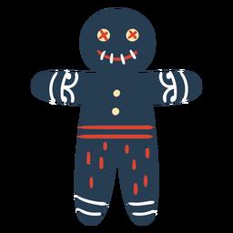 Hombre de pan de jengibre espeluznante escandinavo