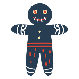 Scandinavian creepy gingerbread man