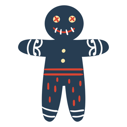 Scandinavian creepy gingerbread man Transparent PNG