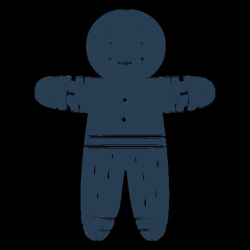Hombre de pan de jengibre espeluznante escandinavo azul