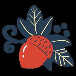 Scandinavian cute acorn