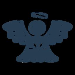 Ángel lindo escandinavo azul