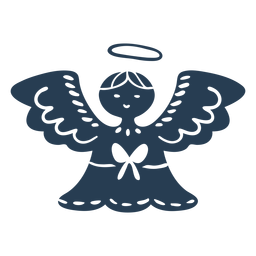 Scandinavian cute angel blue