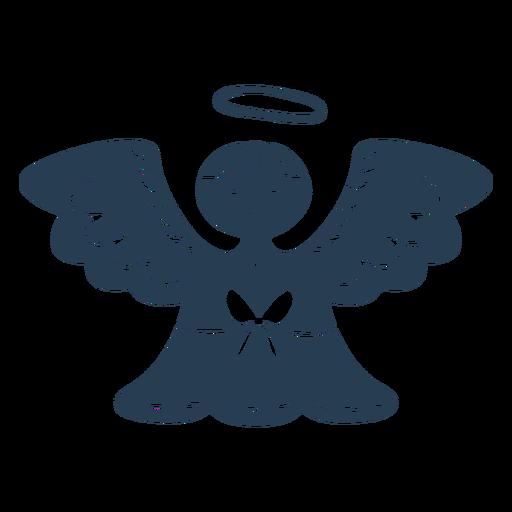 Scandinavian cute angel blue Transparent PNG