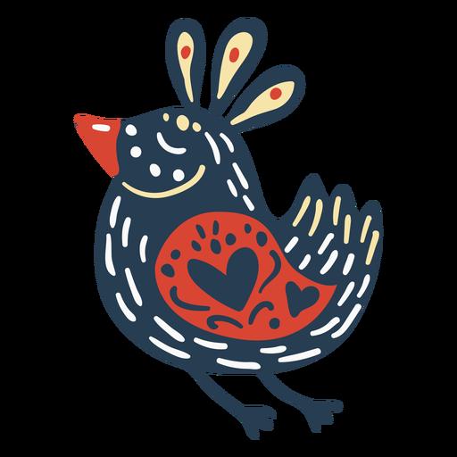 Scandinavian cute bird Transparent PNG