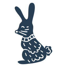 Lindo conejito escandinavo azul
