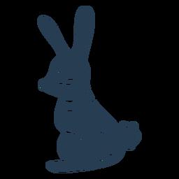 Scandinavian cute bunny blue