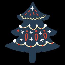 Lindo árbol de navidad escandinavo