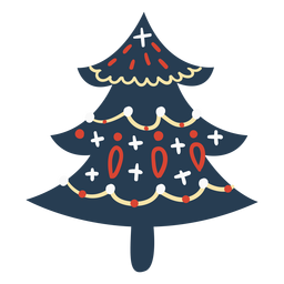Scandinavian cute christmas tree