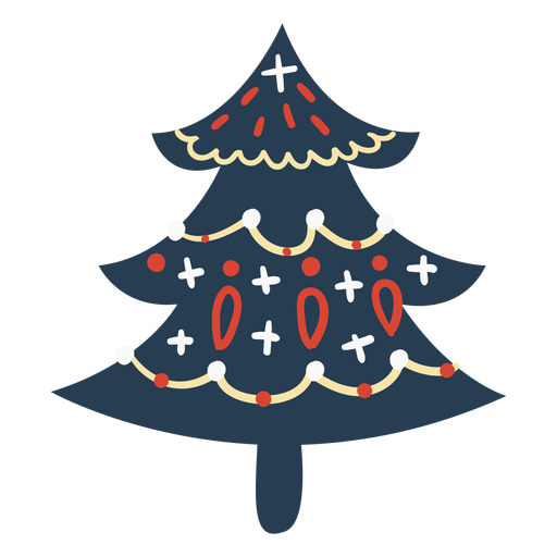 Scandinavian cute christmas tree Transparent PNG