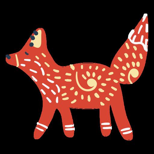 Scandinavian cute fox Transparent PNG