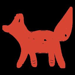 Escandinava raposa fofa laranja
