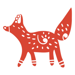 Scandinavian cute fox orange
