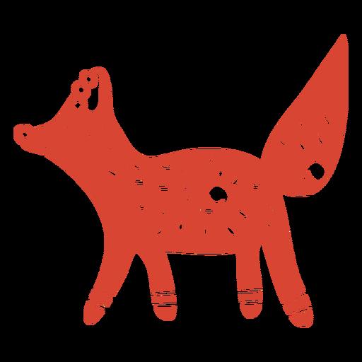 Scandinavian cute fox orange Transparent PNG
