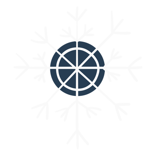 Copo de nieve lindo escandinavo