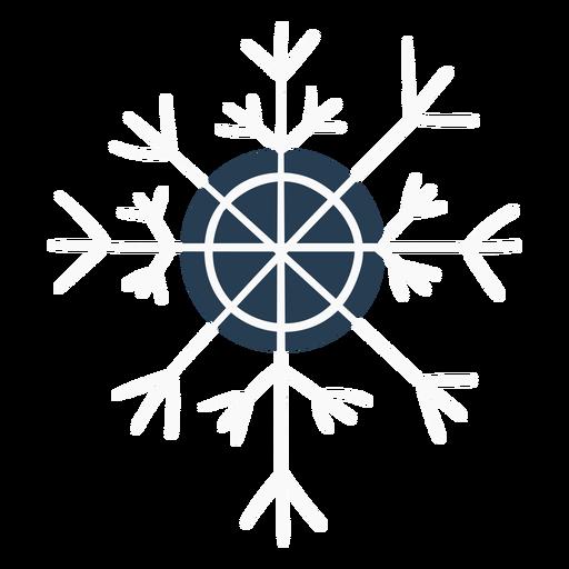 Scandinavian cute snowflake Transparent PNG