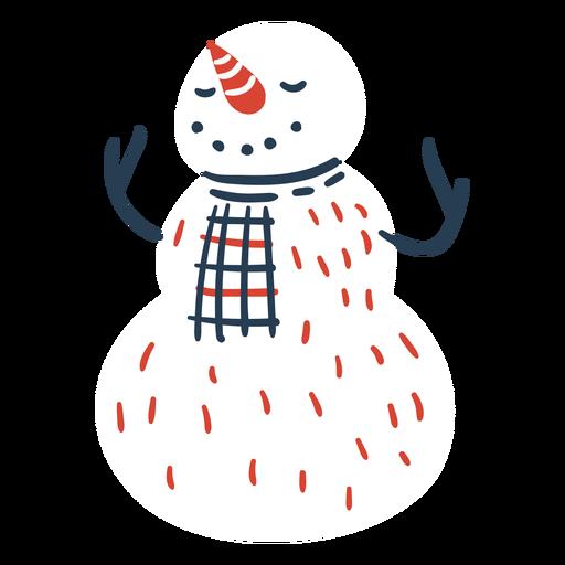 Lindo muñeco de nieve escandinavo Transparent PNG