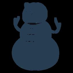 Lindo muñeco de nieve escandinavo azul