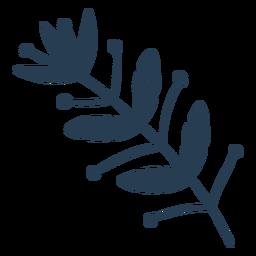 Escandinava bonita flora azul