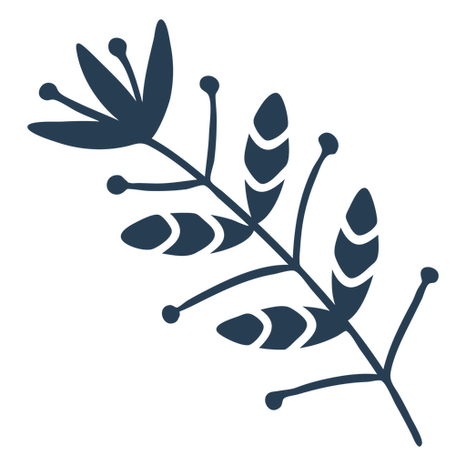Scandinavian nice flora blue Transparent PNG