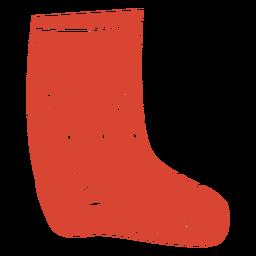 Scandinavian sock orange