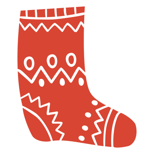 Scandinavian sock orange Transparent PNG