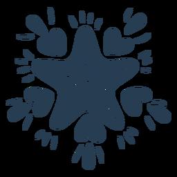 Estrella escandinava con corazones azules
