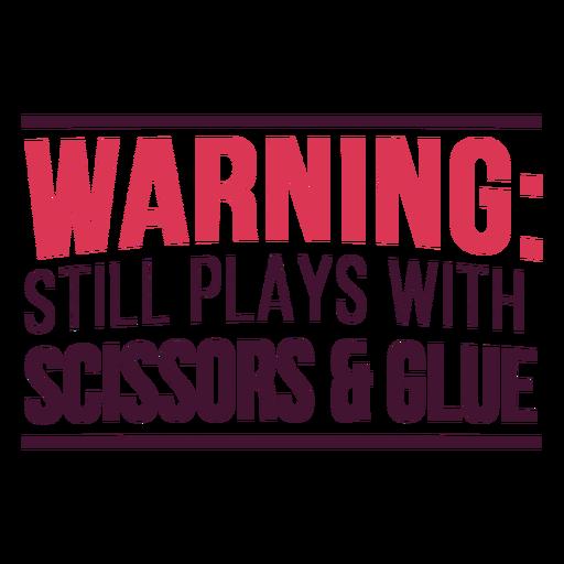 Scissors glue play lettering Transparent PNG