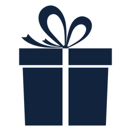 Caixa de presente azul simples