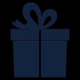 Caja de regalo azul simple