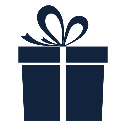 Simple blue gift box