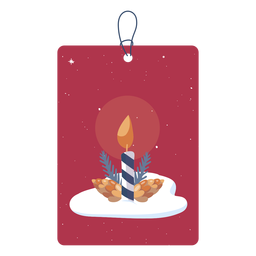 Simple candle christmas tag