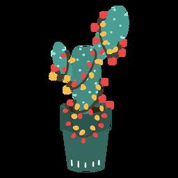 Simple cactus de navidad