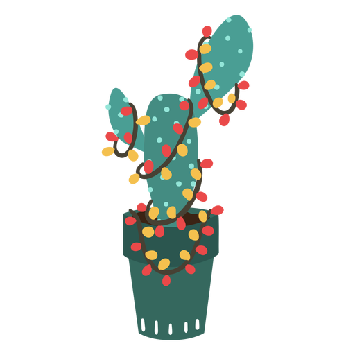 Simple cactus de navidad Transparent PNG