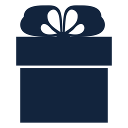 Caja de regalo simple azul