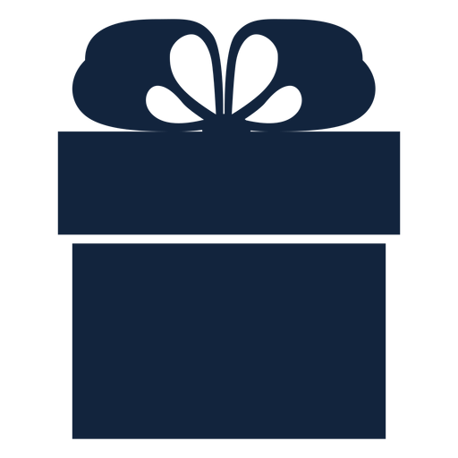 Simple gift box blue Transparent PNG