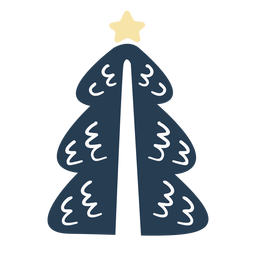 Simple scandinavian christmas tree