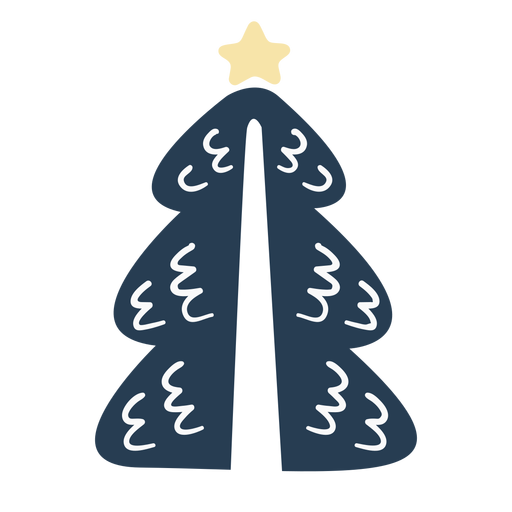 Simple scandinavian christmas tree Transparent PNG