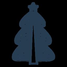 Simple scandinavian christmas tree blue