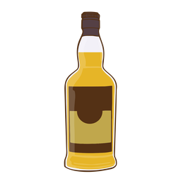 Botella de whisky simple