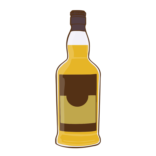 Botella de whisky simple