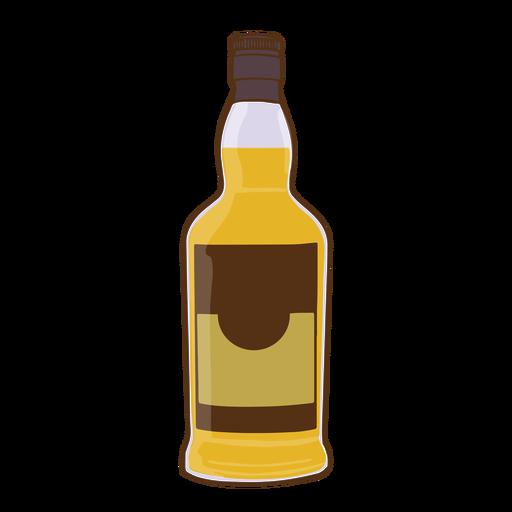 Simple whisky bottle