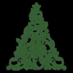Smiling unicorns christmas tree