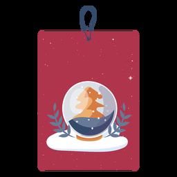 Etiqueta de globo de nieve