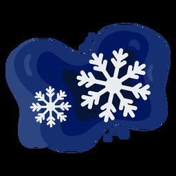 Copos de nieve simple papercut