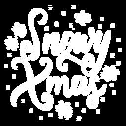 Letras navideñas nevadas