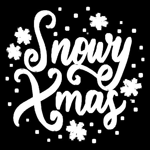Letras de Natal nevado Transparent PNG