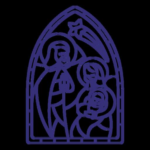 Golpe de natal sagrado da família com vitral Transparent PNG