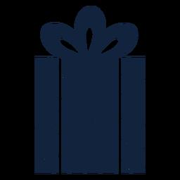 Caixa de presente listrada azul