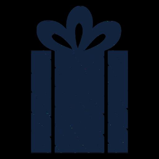 Caja de regalo a rayas azul Transparent PNG